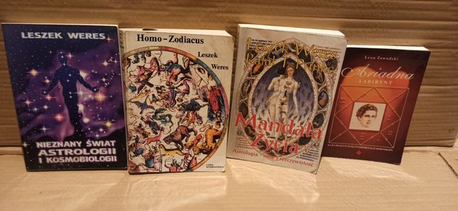 Leszek Weres 3 książki Homo Zodiacus i Leon Zawadzki Labirynt