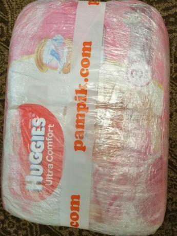 Подгузники для девочек Huggies Ultra Comfort 3 (5-9кг) 80 шт.