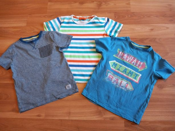 Koszulki z krótkim rękawem dla chłopca m.in Cool Club (rozmiar 116cm)