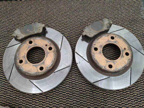 Тормозные диски и колодки Ford Fiesta mk7 Rotinger PowerStop Ceramic