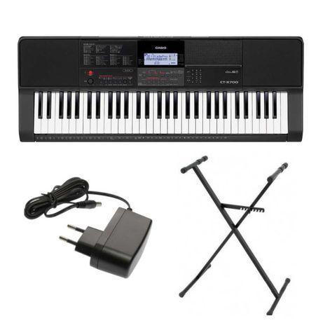 Keyboard Casio CT-X700 + statyw - prezent na Komunię!