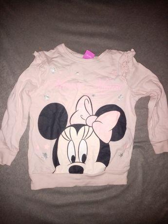 Bluza Myszka Minnie Disney pudr róż roz 110 ubranka ubrania dziecięce