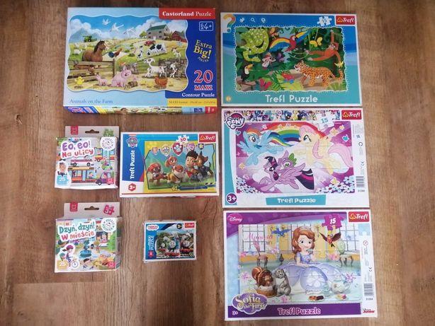 Ładne Puzzle 13 szt. dla dzieci - okazja!