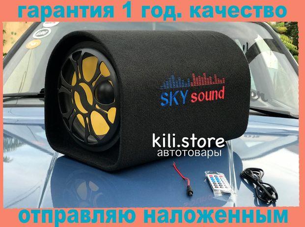 "Активный сабвуфер бочка SKY sound Sub 10"" 1000Вт + Bluetooth газ уаз"