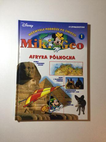 """Książki """"Niezwykłe Podróże Po Świecie"""" z Myszką Miki geografia"""