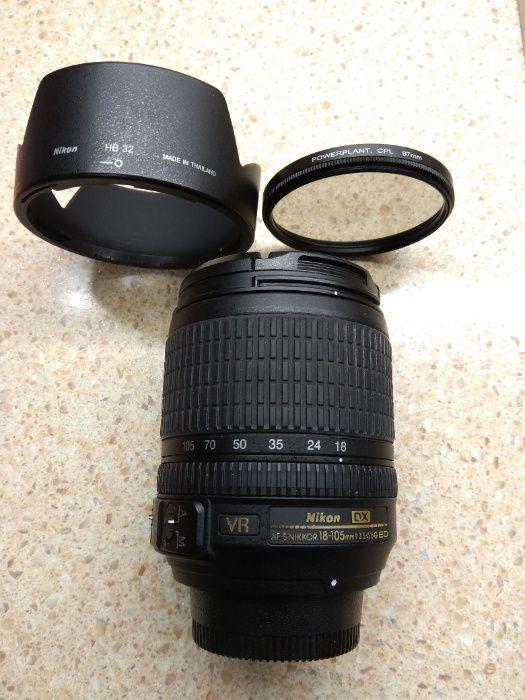 Объектив Nikon AF-S DX Nikkor 18-105mm f/3.5-5.6G ED VR Киев - изображение 1