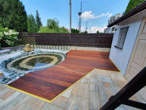Budowa tarasów drewnianych - pergole - zadaszenia - projekty !