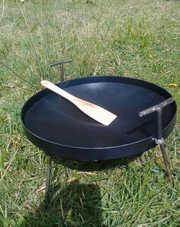 Сковорідка 40см для відкритого вогню + кришка .