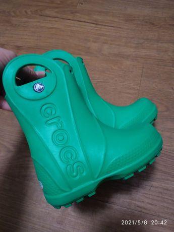 Crocs c8 резиновые сапоги