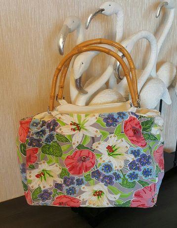 Пляжная сумка. Тканевая сумка.Яркая сумка. Летняя сумка. Сумка на отды