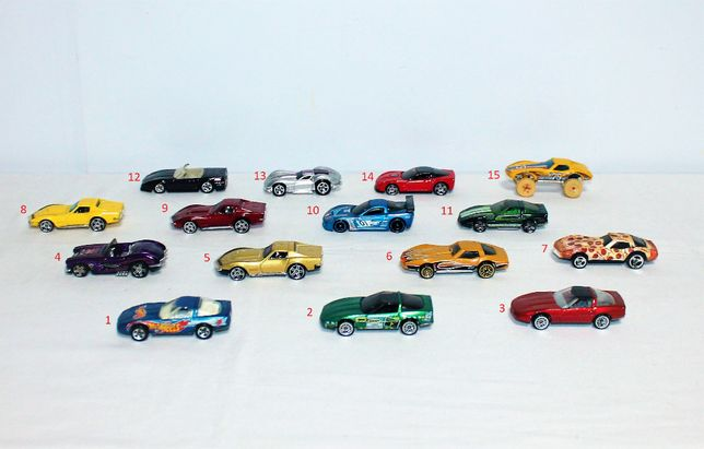 Hot wheels Corvette, colecção de 15
