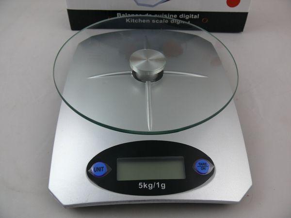 WAGA KUCHENNA LCD DO 5kg ELEKTRONICZNA szklana na truskawki do kuchni
