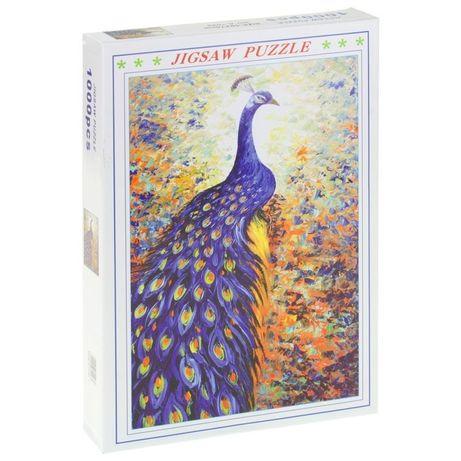 Puzzle 1000 el. Paw Zwięrzę Ptak Pawie Pióra