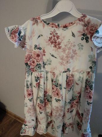 Sukienka handmade Gaja w kwiaty 110