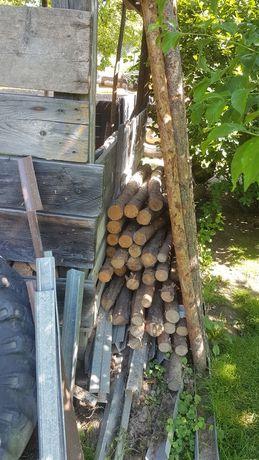 Stęmple budowlane drewniane