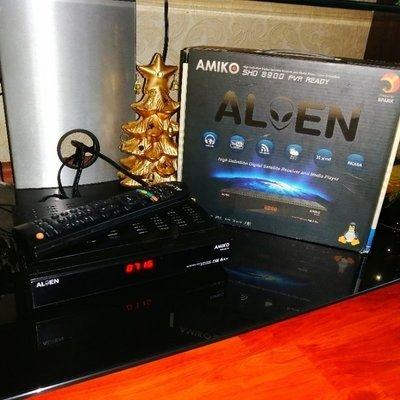 Оригинал! Ресивер Amiko-SHD8900 Alien в отличном состоянии с коробкой