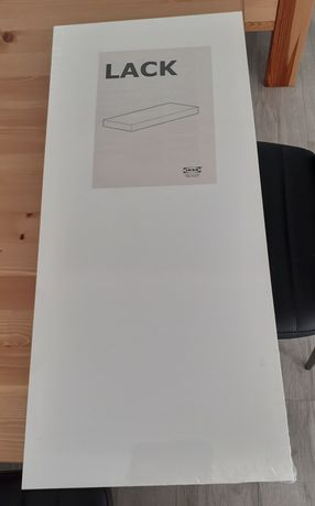 Półka ścienna Lack biały połysk 59x26 Ikea NOWA