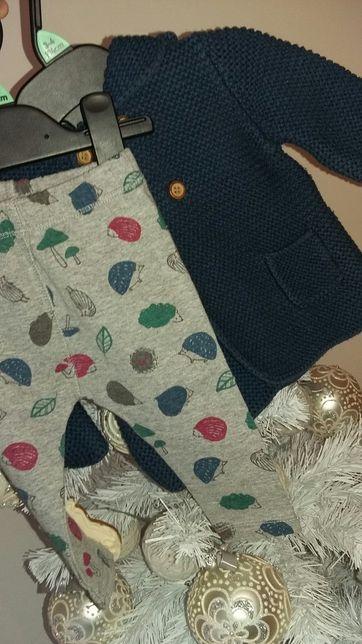 ZARA r. 68 sweterek + legginsy