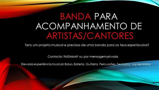 Banda completa para acompanhar Artistas/Cantores