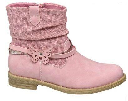 Kozaki Graceland dziecięce różowe - Deichmann roz. 31 NOWE