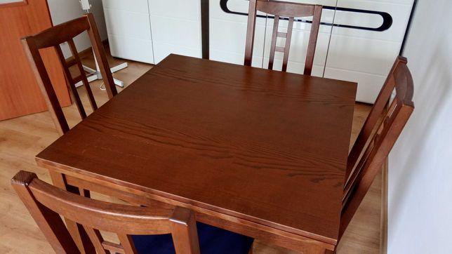 ładny solidny Stół z krzesłami rozkładany
