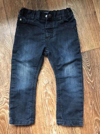 Чёрные джинсы скины next на подкладке на 2 года