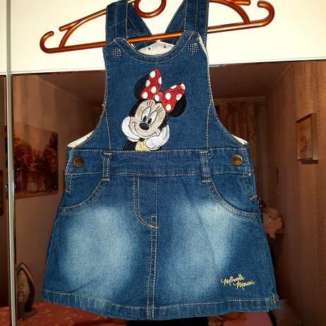 Ogrodniczka jeansowa Disney R 74ł