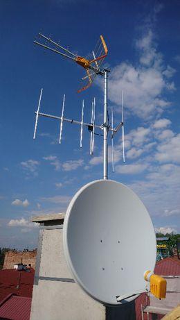 Montaż anten DVB-T i SAT