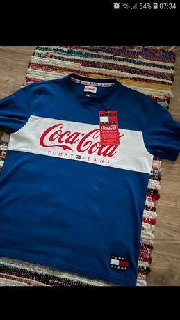 T-shirt męska koszulka Tommy Jeans Coca Cola vintage niebieska rozmiar