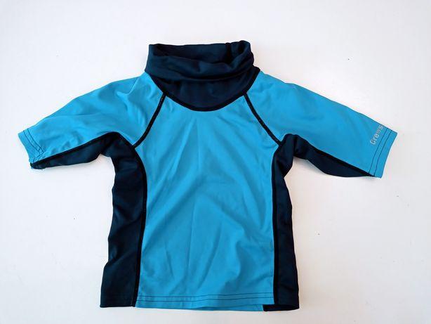 Bluzka do pływania 104, koszulka kąpielowa spf 40