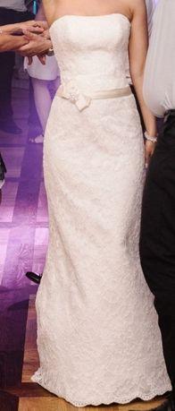 Suknia Ślubna rozmiar 36 Ecru + welon Agnes 11258