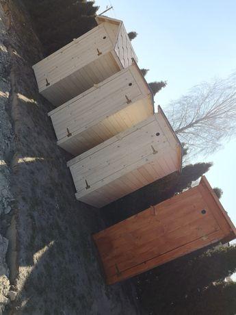 Toaleta przenośna drewniana wychodek wc heblowana szalet Latryna ustęp