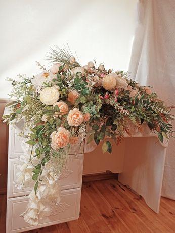Украшение свадебного стола  Весілля Квіти для фотосесії