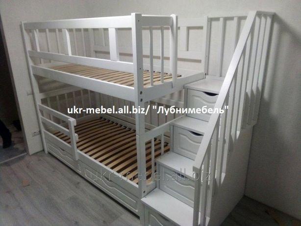 Двухъярусная деревянная кровать Анта, двоярусне (двоповерхове) ліжко