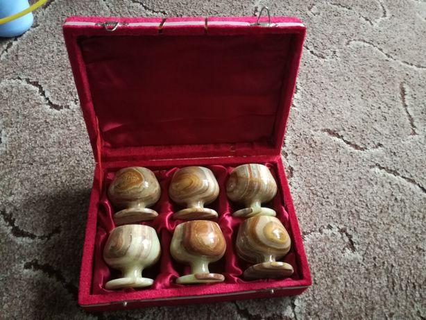 Подарочный набор 6 шт рюмки из оникса