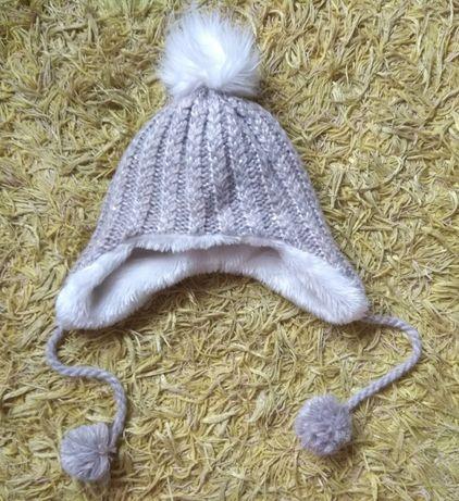 Зимняя шапка на девочку зимняя шапка для девочки шапка мех 6-12 лет