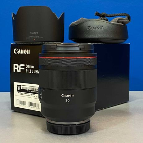 Canon RF 50mm f/1.2 L USM (NOVA - 2 ANOS DE GARANTIA)