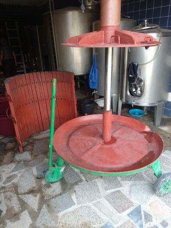 Prensa hidráulica com motor monofásico para vinho