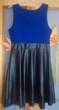 sukienka z eko skórą