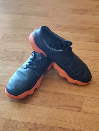 Camper block trainers, Navy Blue and Orange