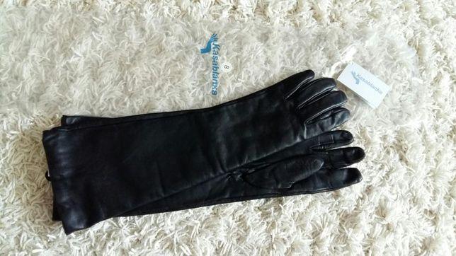 Перчатки жен кожаные 7-8 длинные