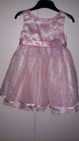 Sukienka różowa na 3 latka