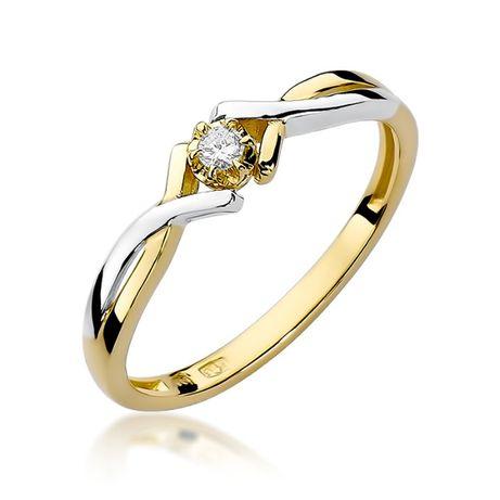 Złoty pierścionek z brylantem Jubiler Goldrun 0,040ct