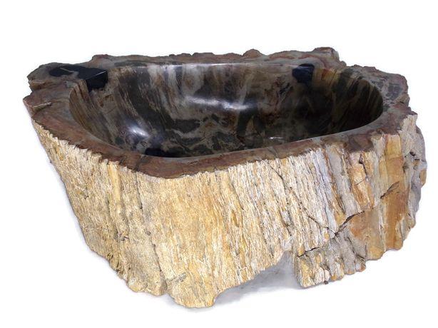 Umywalka nablatowa Skamieniałe drewno