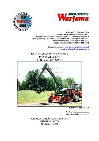 Katalog części Ładowacz Cyklop T - 214/3