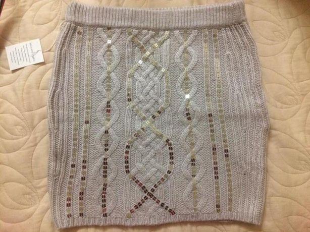 Victoria's secret moda international winter wool skirt оригинал вязана