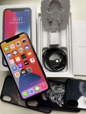Iphone X 256 Gb neverlock идеал (черный)