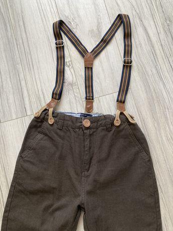 Spodnie na szelkach 152 Reserved retro eleganckie
