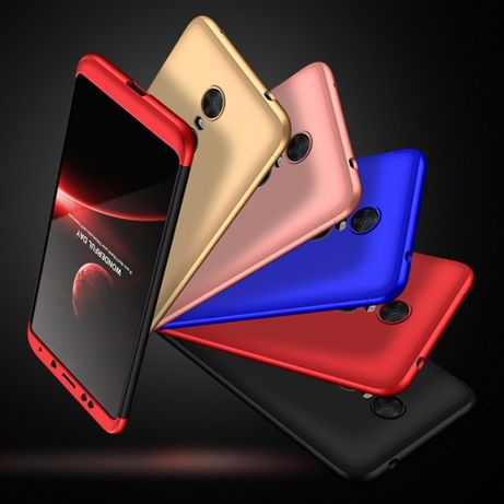 Чехол GKK 360 Xiaomi Redmi 4X 5 Plus Note 4 5A 6 Mi A1 Max 2 3 бампер