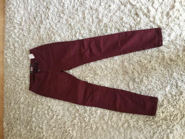 Spodnie damskie bordowe